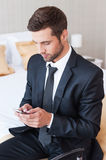 Typing business message. royalty free stock photos