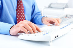 Typing. Businessman Royalty Free Stock Photo