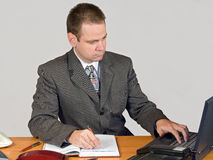Typing businessman Royalty Free Stock Photo