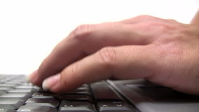Typing - Close-Up stock video