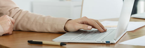 Typing on the computer Royalty Free Stock Image