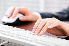 Typing documents Stock Photography