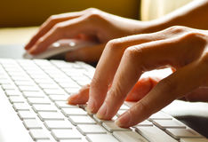Typing female hands Royalty Free Stock Image