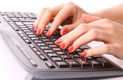 Typing Royalty Free Stock Photo