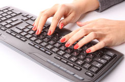 Typing Royalty Free Stock Images