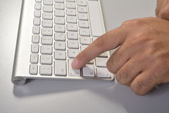 Typing fingers Royalty Free Stock Images