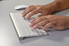 Typing fingers Royalty Free Stock Photography