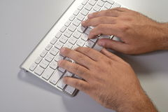 Typing fingers Stock Photo