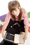Typing girl Stock Photography