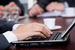 Typing hands Royalty Free Stock Photo