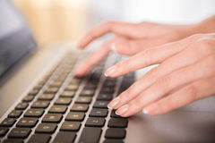 Typing hands Royalty Free Stock Images