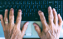 Typing hands Royalty Free Stock Image