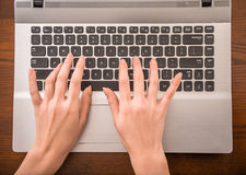 Typing hands Stock Photos