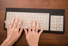 Typing hands Stock Photo