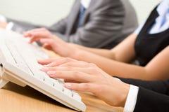 Typing on keyboard Stock Image