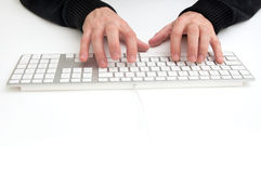 Typing a keyboard Stock Photo