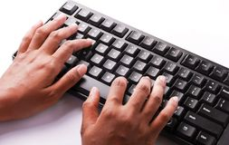 Typing Keyboard Royalty Free Stock Images
