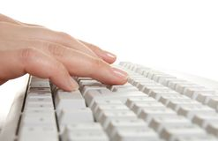 Typing on keyboard Royalty Free Stock Images