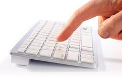 Typing on keyboard Royalty Free Stock Photos
