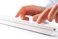 Typing on keyboard Stock Photos