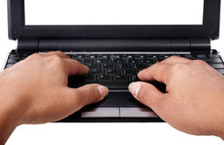 Typing on keyboard Royalty Free Stock Image