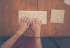 Typing On Keyboard Royalty Free Stock Photo