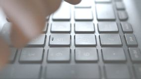 Typing on keyboard close up. slow motion. Footage stock footage
