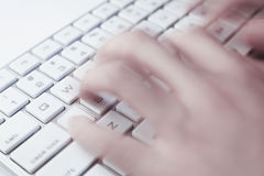 Typing On Keyboard Royalty Free Stock Photo