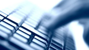 Typing on keyboard. Closeup view stock video footage