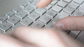 Typing on a keyboard stock footage