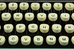 Typing keys. Taken at 125th of a sec.at f11woith a white back ground Royalty Free Stock Photos