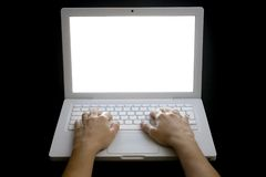 Typing on Laptop 01 Royalty Free Stock Photo