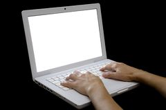 Typing on Laptop 02 Royalty Free Stock Photos
