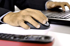 Typing On Laptop Royalty Free Stock Image