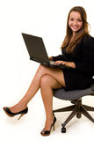 Typing on laptop Royalty Free Stock Photography
