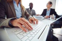 Typing on laptop Royalty Free Stock Photo