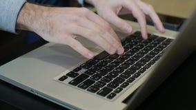 Typing On A Laptop Keyboard. Laptop keyboard.Typing On A Laptop Keyboard,computer Literate Operator stock video