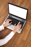 Typing With Laptop PC Royalty Free Stock Photos