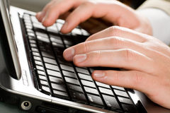 Typing a letter Royalty Free Stock Images