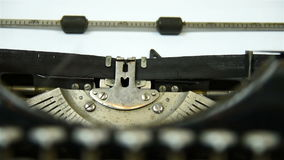 Typing machine. Vintage typing machine. Close Up stock footage