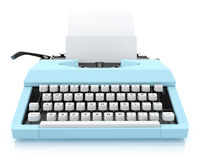 Typing Machine on White Background, Render Royalty Free Stock Images