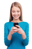 Typing a message to you. Royalty Free Stock Images