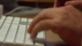 Typing PC Keyboard stock footage
