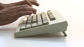 Typing PC Keyboard stock video footage