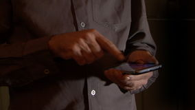 Typing the Smart Phone. Man Using the Smart Phone stock footage