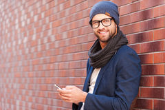Typing text message. Royalty Free Stock Images
