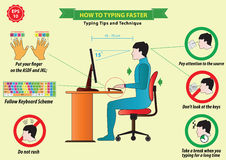 Typing tips Stock Photography