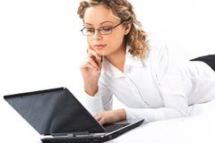 Typing woman Royalty Free Stock Photo
