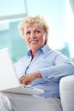 Typing woman Stock Photos