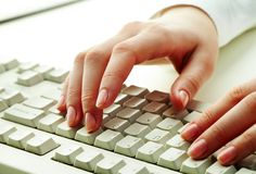 Typing work Stock Images